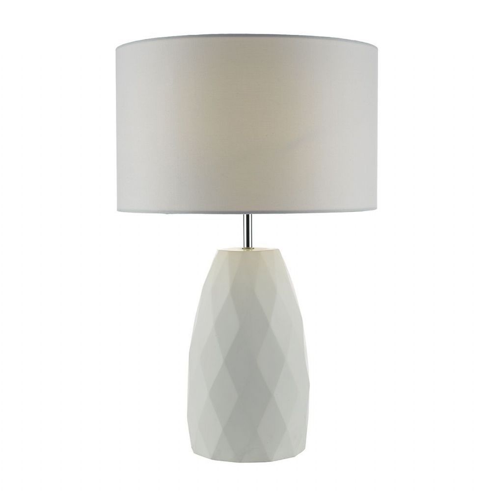 Ciara Table Lamp White complete with Shade (Class 2 Double Insulated)